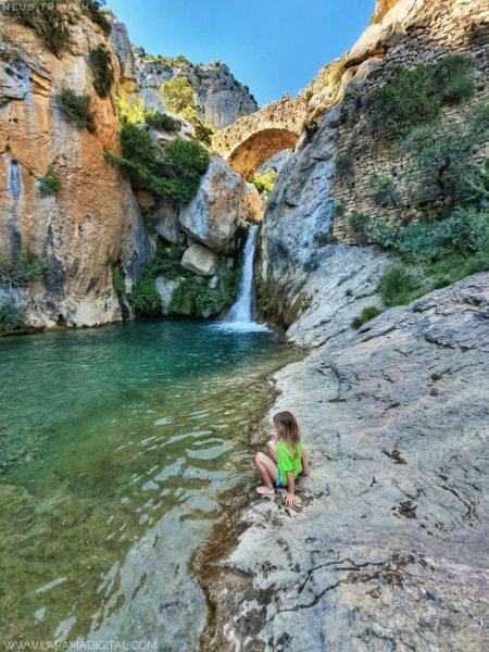 Pont medieval Boixols Pallars Jussà barrancs